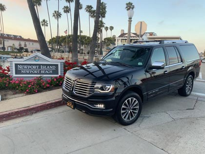 SUV and Car Service in Newport Beach, California featuring professional chauffeurs and reliable service.